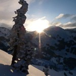 sunrise-upper-little-cottonwood-canyon-drybrush