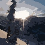 sunrise-upper-little-cottonwood-canyon-outlines