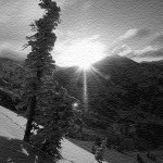 sunrise-upper-little-cottonwood-canyon-sandstonebw